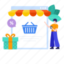 buy online, ecommerce, eshopping, online grocery, online shopping, shopping website icon