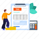 budget report, income, income tax, tax, tax file, tax report, tax return icon