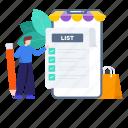 checklist, list, mobile, mobile shopping list, plan list, shopping, shopping list