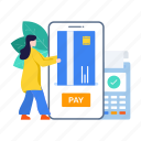 digital payment, mobile banking, mobile payment, online, online payment, payment, secure payment icon