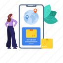 cargo tracking, delivery tracking, mobile tracking, parcel, parcel tracking, shipment tracking, tracking icon