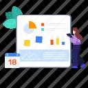 business management, data analytics, management, project, project management, project planning, statistics icon