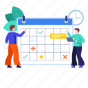 almanac, calendar, planning, reminder, schedule, schedule planning, timetable icon