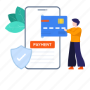 digital payment, mobile banking, mobile payment, online payment, payment, secure, secure payment icon