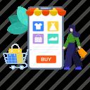 app, ecommerce, eshopping, mobile app, mobile shopping, shopping, shopping app icon