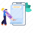 agreement, commitment, contract, deal, mobile contract, smart, smart contract icon