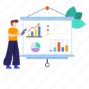 business analytics, business presentation, graphical presentation, infographics, statistics icon
