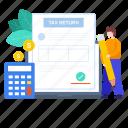 budget report, income tax, return, tax, tax file, tax report, tax return icon