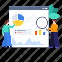 data analysis, monitoring, online statistics, web, web analytics, web infographic, web monitoring icon
