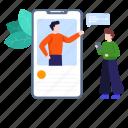 live call, mobile call, web communication, web conferencing, webinar icon