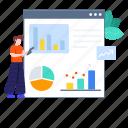 analysis, data analytics, web analytics, web infographic, web statistics, website, website analysis icon