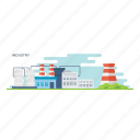 commercial enterprise, corporation, industry, manufacturing factory, production unit icon