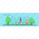 bicycle rental, bicycle riding, cycling bicycle, healthy activity, human cycling icon