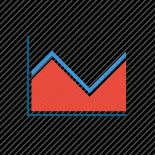 area, elements, graph, infographics, line, line graph, shapes icon