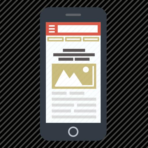 adaptive, mobile site, phone, responsive, seo, site, web icon
