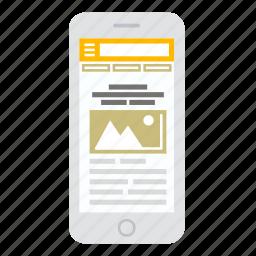 apadtive, mobile site, phone, responsive, seo, web, website icon