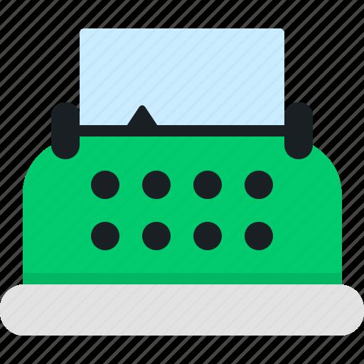 paper, post, text, type, typewriter, write, writer icon
