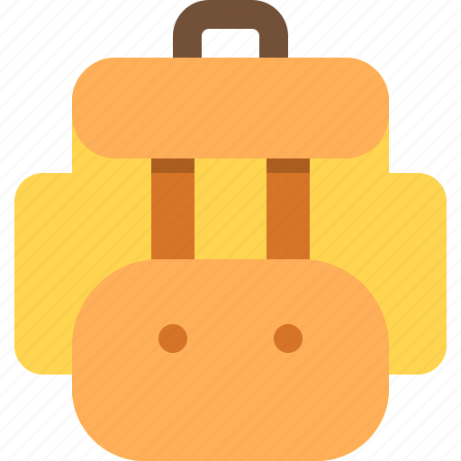 backpack, bag, briefcase, pocket, transport, travel, vacation icon