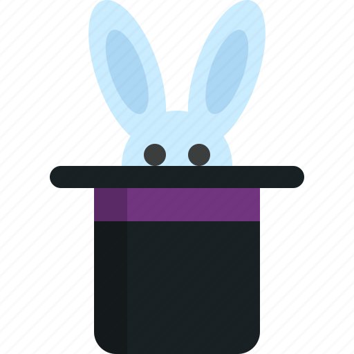 cap, focus, hat, magic, rabbit, wand, wizard icon