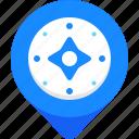 compass, gps, map, marker, navigatation, pin, pointer icon