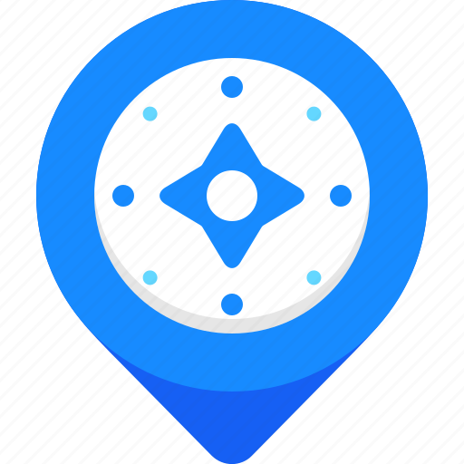 compass, gps, map, marker, navigatation, pin, pointer icon