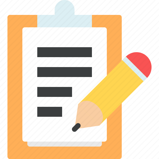 doc, document, file, paper, pencil, tablet, write icon