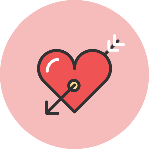 Arrow, heart, love, valentines icon - Free download