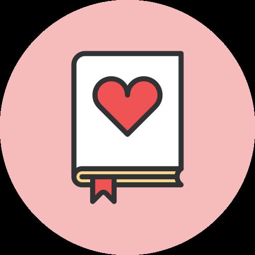 Book, love icon