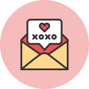 bubble, mail, xoxo icon