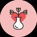 tulips, vase icon