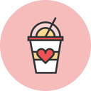 coffee, heart icon