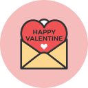 happy, mail, valentine icon