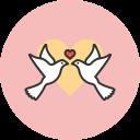 birds, love, lovebirds icon
