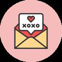 bubble, mail, xoxo icon
