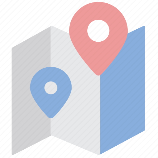 location, map, navigation, path, pin, position, route icon
