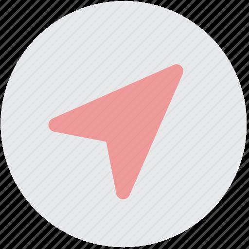cursor, location, map, navigation, position icon