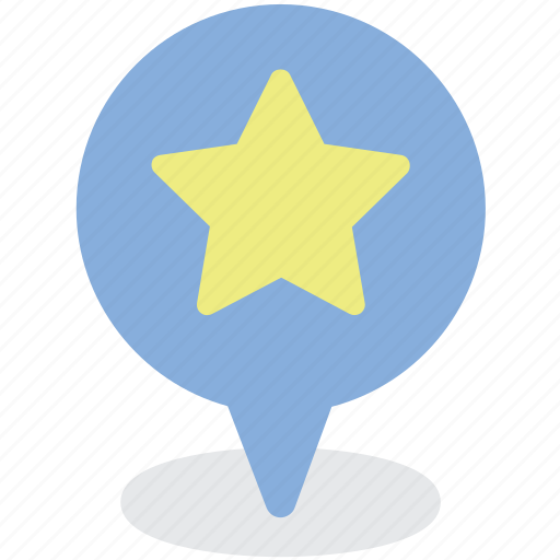 direction, favorite, location, map, map marker, star icon