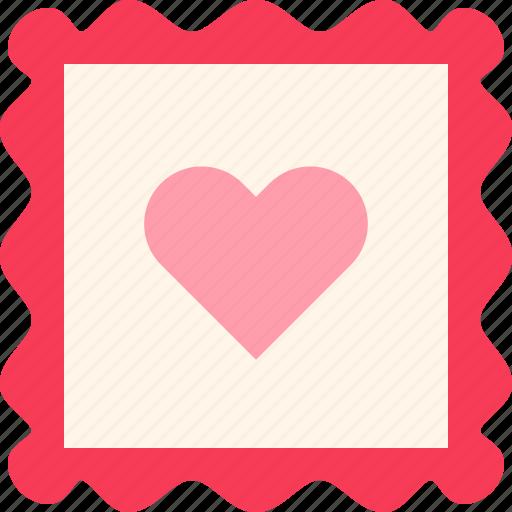 heart love postcard stamp valentine icon