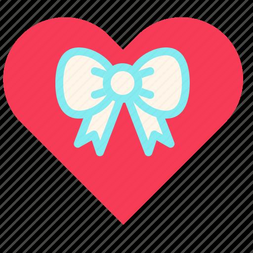 gift, heart, love, present, valentine icon