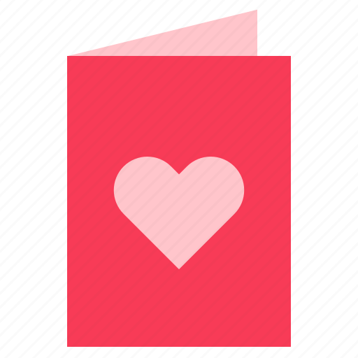 card, greeting, heart, love, valentine icon