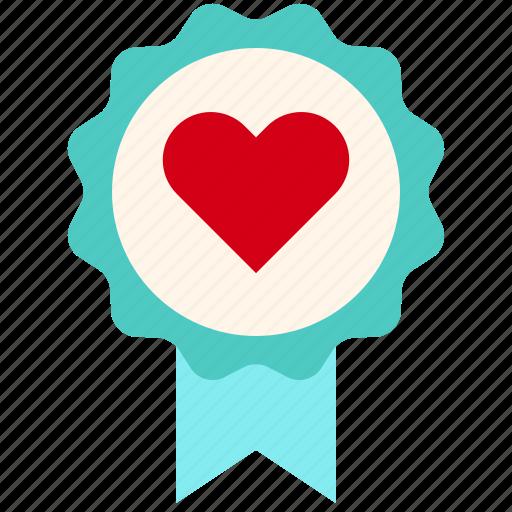 badge, favorite, love, medal, valentine icon