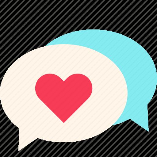 Bubble, love, message, talk, valentine icon - Download on Iconfinder