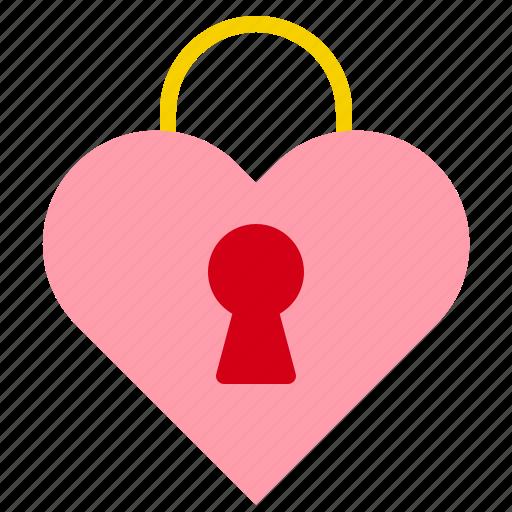 Heart, key, lock, love, valentine icon - Download on Iconfinder