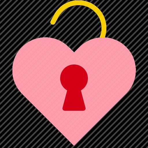 Heart, key, love, unlock, valentine icon - Download on Iconfinder