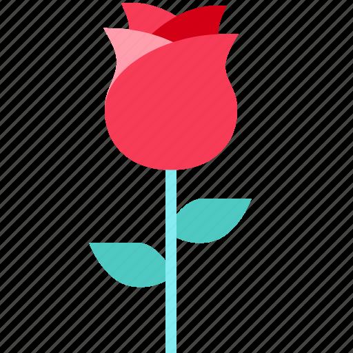 flower, heart, love, rose, valentine icon