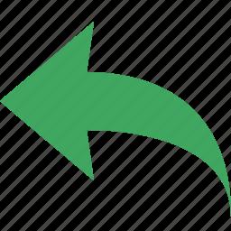 back, direction, previous, rotate, undo icon