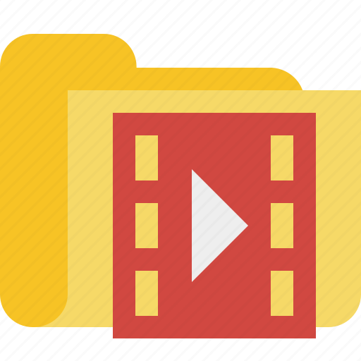 Film, folder, media, movie, video icon - Download on Iconfinder
