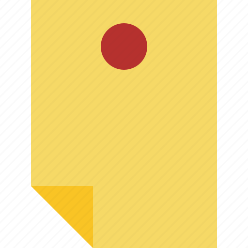 document, memo, note, pin, reminder, sticker icon