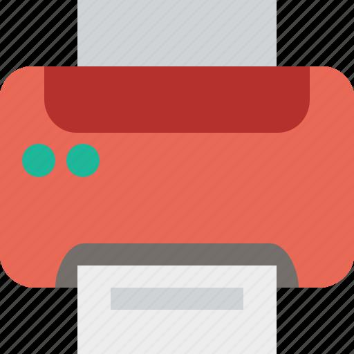 document, paper, print, printer, printing icon