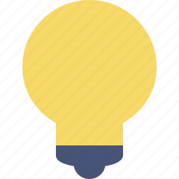 bulb, idea, light, tip icon